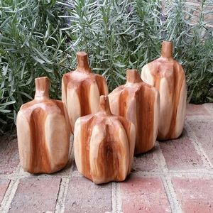 Chainsaw Carved Pumpkin Patch Minis